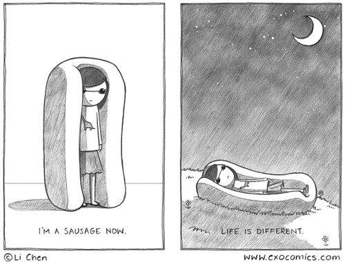 Sausage. .