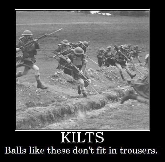 Scots. yupyupyup. Balls like these don' t 'lit, in trousers.. lol, i'm Scottish