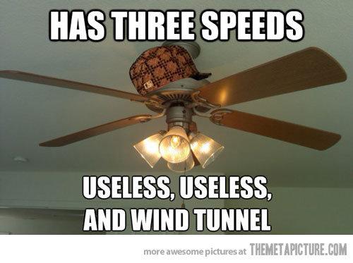 scumbag fan. . HAS THREE SPEEDS USELESS. USELESS. Mil WIND 'I'. i believe you forgot light speed scumbag fan HAS THREE SPEEDS USELESS Mil WIND 'I' i believe you forgot light speed