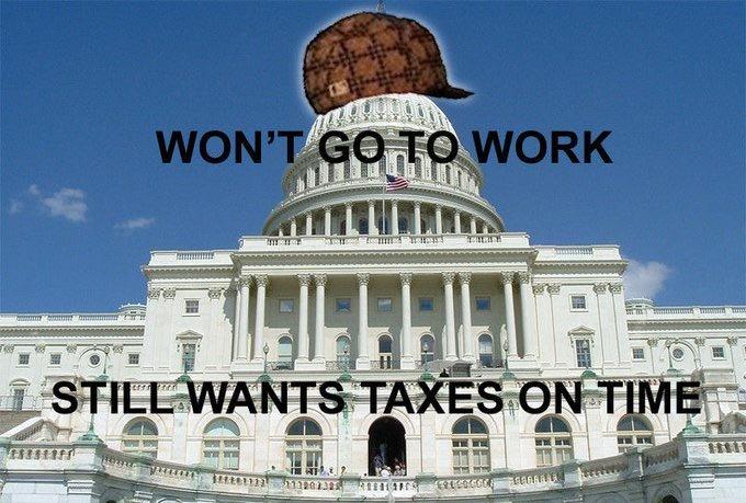 Scumbag Congress. Scumbag congressmen are scumbags.. just gonna leave this here. congress taxes