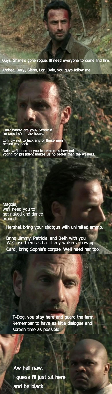 Season 2 in a nutshell. Walking dead season 2, creddit. raer, Ril' rogue. I' ll need everyone to come find him. Andrea, ; Glenn, Lori, Dale, you guys follow me. Walking dead
