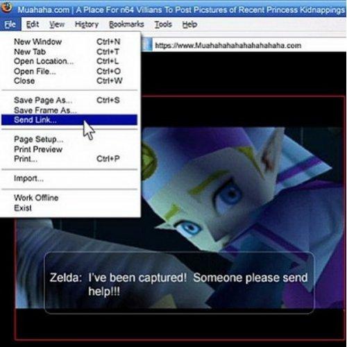 "Send Link!. . Ahahaha mm' A Flam For NV. Np. ccms To Pas: Pressures cf Reican! Puma: ' 2' aloe we captured' t: iomi: .?. Weise sem haw"" link Zelda Legend of zelda OoT"