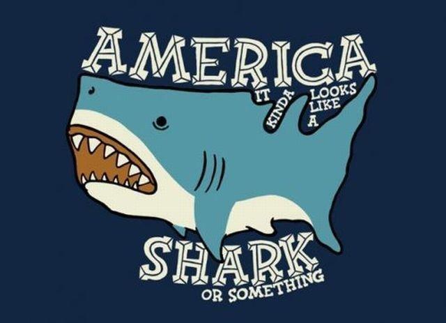 Shark or somethin. Yeah....or somethin.. IM A SHAAARK!!! Shark something america