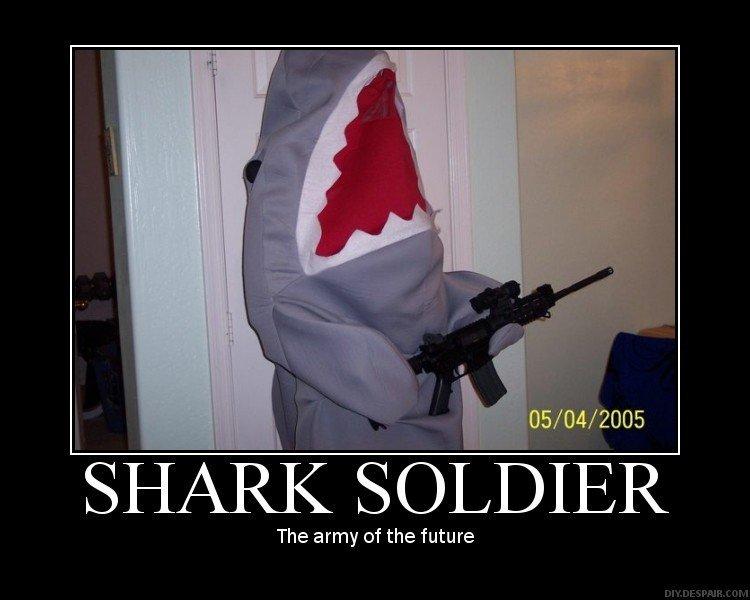 shark soldier. .. In Soviet Russia, you bite shark shark soldier Shark