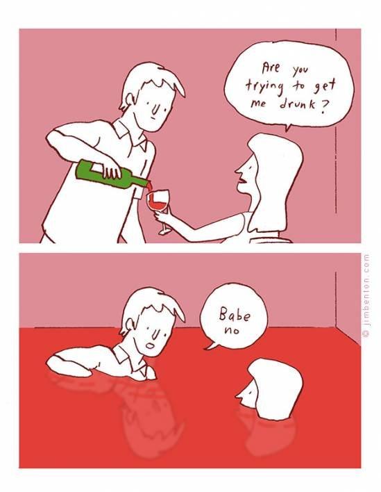 She'll never notice. . haha drunk wine lolz