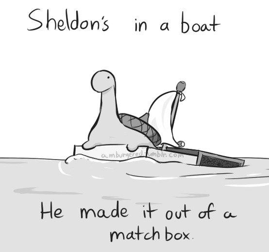 Sheldon the tiny dino. Oh Sheldon. box. Sheldon the tiny dino Oh box