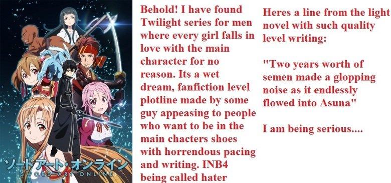 Shite Art Online. .. It's still a better love story the twilight. Anime manga