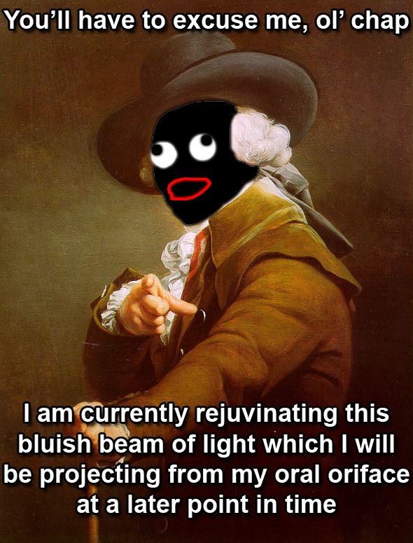 SHOOP DA DECREUX?. I made by hand, Memegenerator!<br /> Translation:<br /> IMMA CHARGIN MAH LAZAH!!<br /> /funny_pictures/339030/SHOOP+DA+DUCR Shoop da whoop Ducreux xan krieger