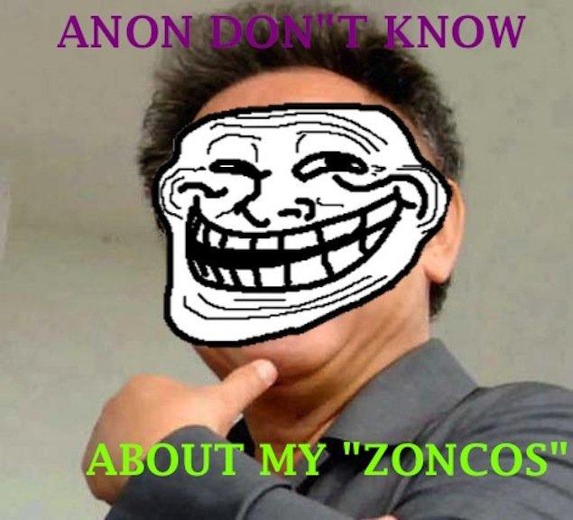 SILLY ANON. ZONCOSZONCOSZONCOSZONCOSZONCOSZONCOSZONCOS.. ZONCOS Zoncos anonymous