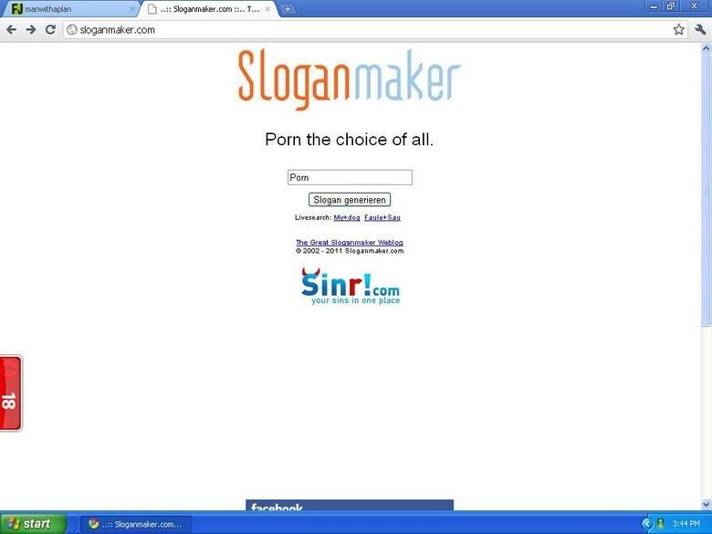 Slogan maker win. First published screen cap. I apologize if it sucks.. Slogan maker