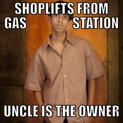Slumdog Thug Gas Station. .