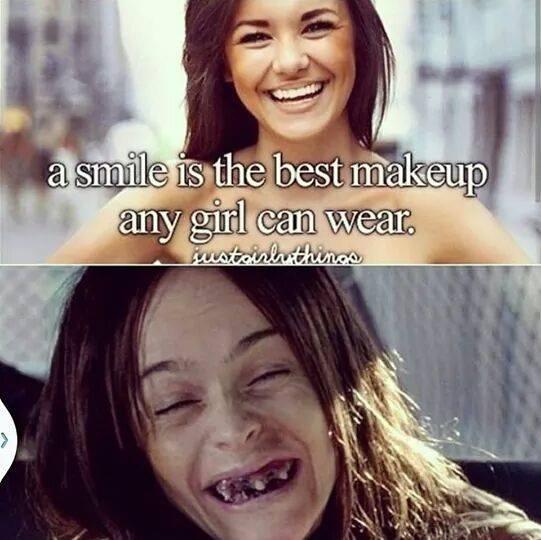 Smile pretty. Not mine.. smile