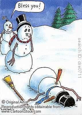 snowman sneeze. .. OH sh... snowman sneeze OH sh