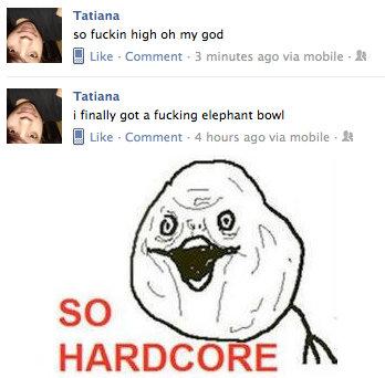 So Hardcore. She is so hardcore. Why can't I be like her. Tatiana so fuckin high oh my grad Q Like - Ccomment . . minutes we via mobile - It Tatiana i really go so Hardcore