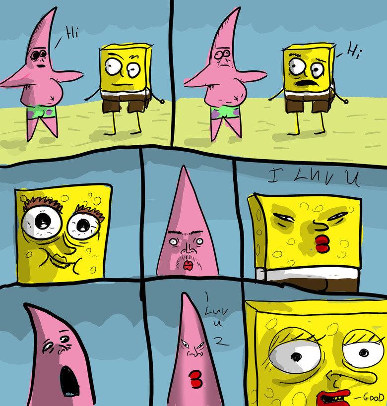 Spongebob & Patrick luv. its luv i drew dis i hop u lik et. spongebob patrick luv comic