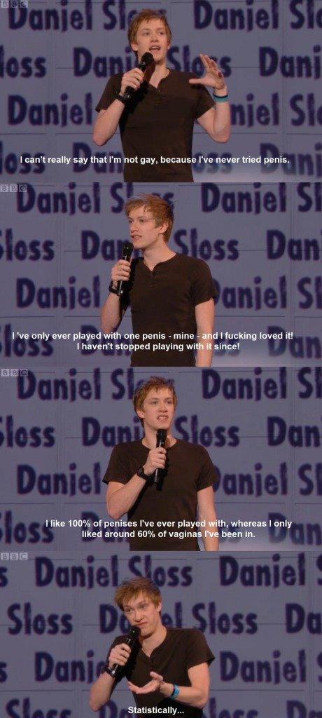 Statistically I'm gay. . russel howard Gay statistically