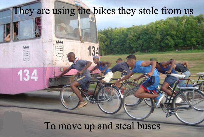 Stealing Bikes!. stole my bike and bus!. rawr Fuu FUNNYJUNK funny lol Boobs