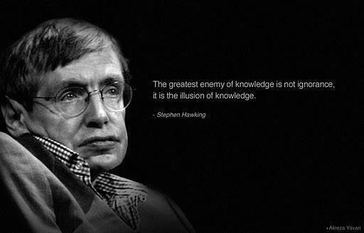 Stephen Hawking. . The greatest sf is not , hawking