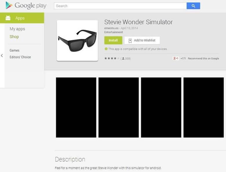 Stevie Wonder SImulator. . b. Google play . E Stevie Wanda' Sirraptor Stevie Wonder SImulator b Google play E Wanda' Sirraptor