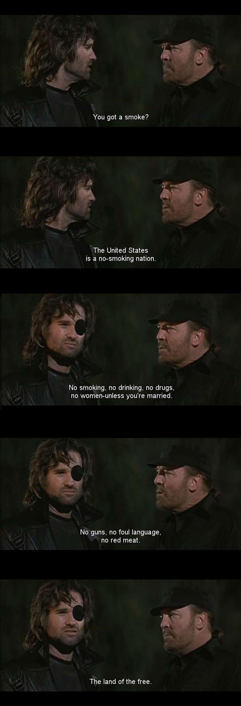 Stoner future. . You got a smoke? The United States is a nonsmoking nation. No smoking, no drinking, no drugs, no you' re married, No guns, no foul language, no Stoner future You got a smoke? The United States is nonsmoking nation No smoking no drinking drugs you' re married guns foul language