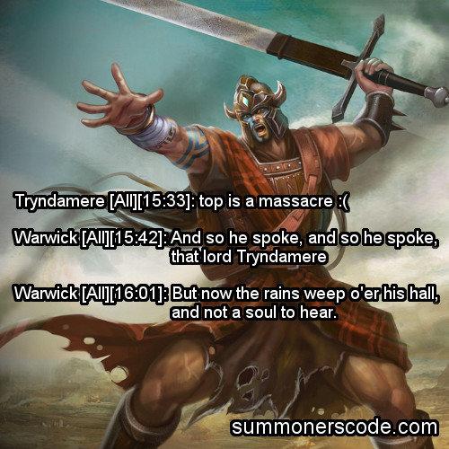 Summoners Code part 2. . 251: Stay positive ! Ahri [: 301: Nice At f Blitzcrank [: 481: all but I have to say... Blitzcrank [: 501: I was Blitzcrank the whole t