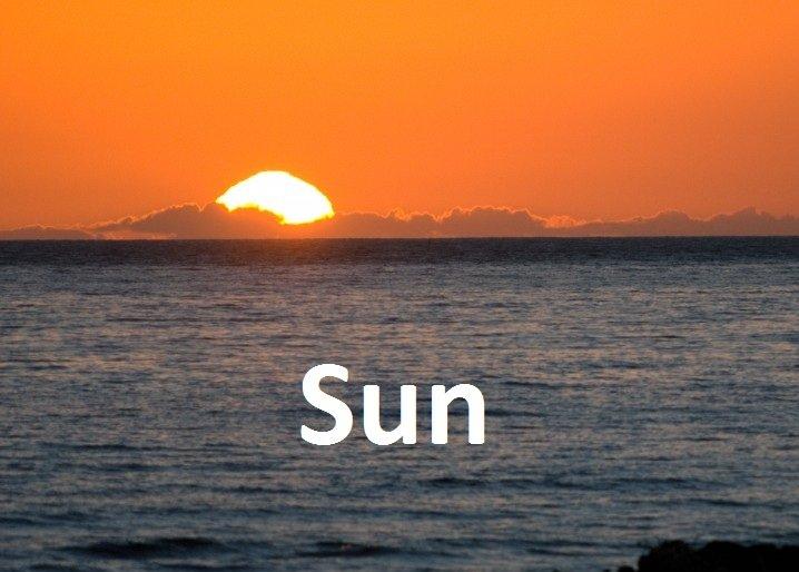 Sun. 'Sun' as in 'soon' I created this.. not gettin it... >.> sun