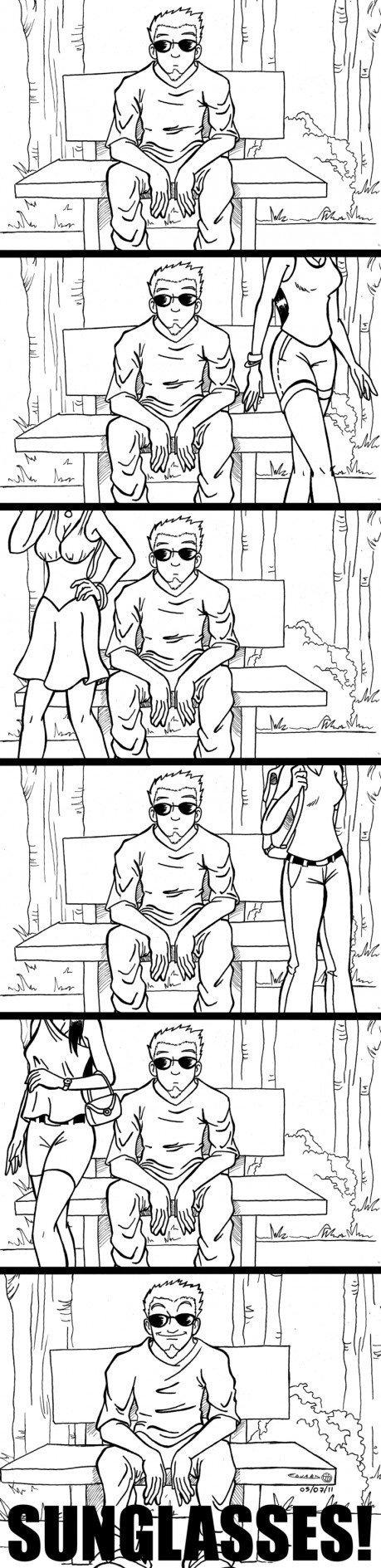 Sunglasses. . fisal ll. J l tru'. He looks oddly familiar... Sunglasses fisal ll J l tru' He looks oddly familiar