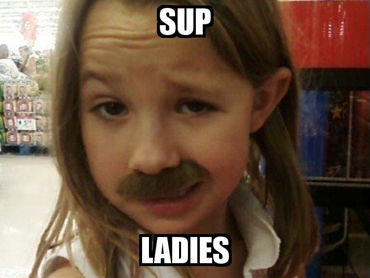 Sup ladies. .. Loli used Mustache! Pedobear is confused! Sup ladies Loli used Mustache! Pedobear is confused!