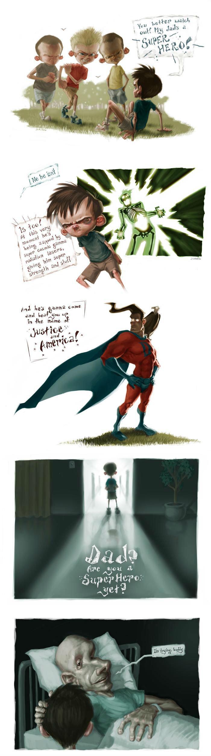 Superdad. .. Aw goddamnit.. gamma rays superhero sad
