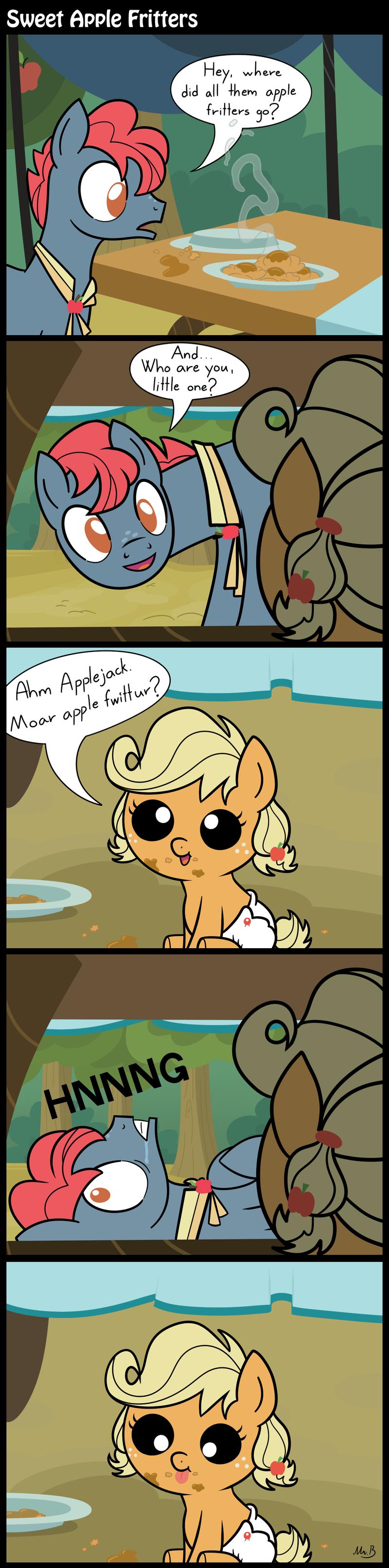 Sweet Apple Fritters. . Sweet Apple Fritters. There goes my left heart. ponies comic