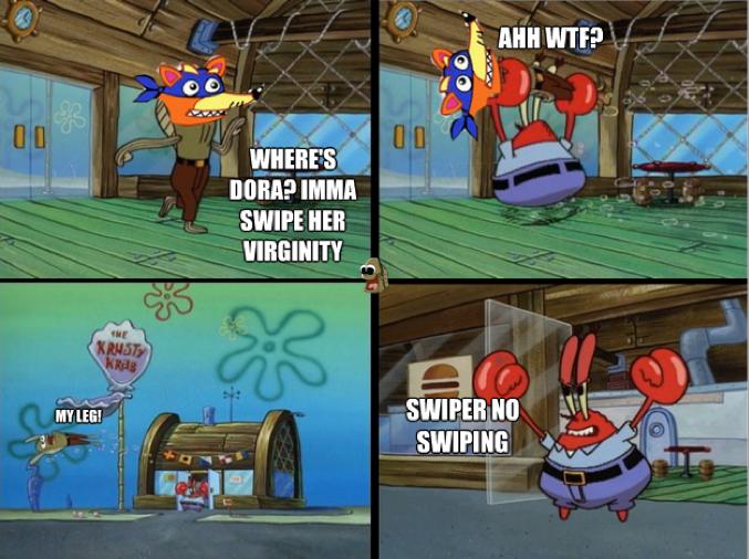 Swiper no swiping!. . Swiper no swiping!