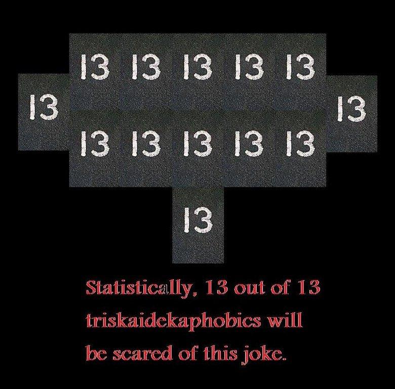 W T F?. triskaidekaphobia worse than Zombie clown?. iil. fl' stl A fear of number