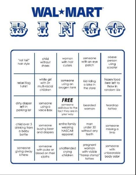 wal-mart bingo. .. BINGO! Aww. Someone giving away kittens? Aww... :D wal mart bingo rat-tails nasca