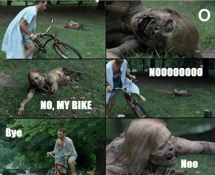 """Walking Dead is back Sunday.. """"bye"""". siet' t ffii his Walking dead zombies superawesometele"""