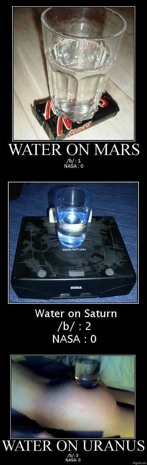Water for 4Chan. hehe...uranus.... NASA: Water on Saturn tis/ 2 guy; 3 NASA: C) Payroll. com NASA