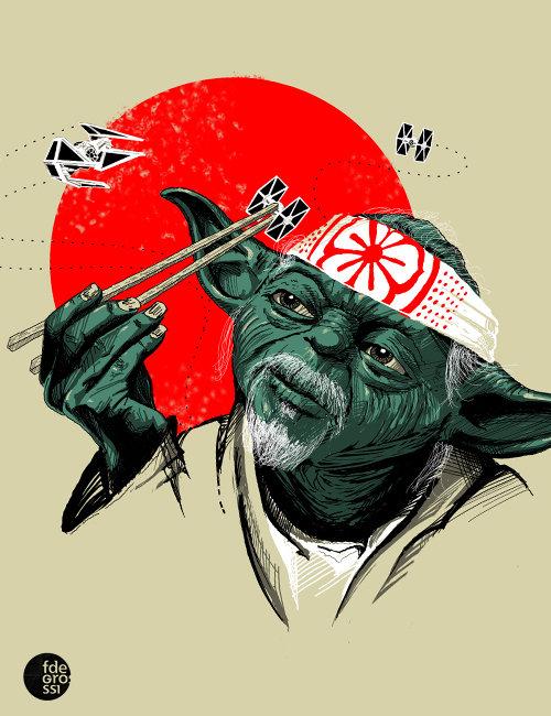 wax on you must, wax off you must. yoda-san. wax on you must off yoda-san