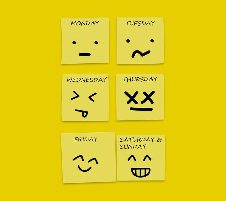 Week Days. . MONDAY TUESDAY WEDNESDAY TH U FRIDAY SATURDAY & SUNDAY. it's Sunday and I'm at work...
