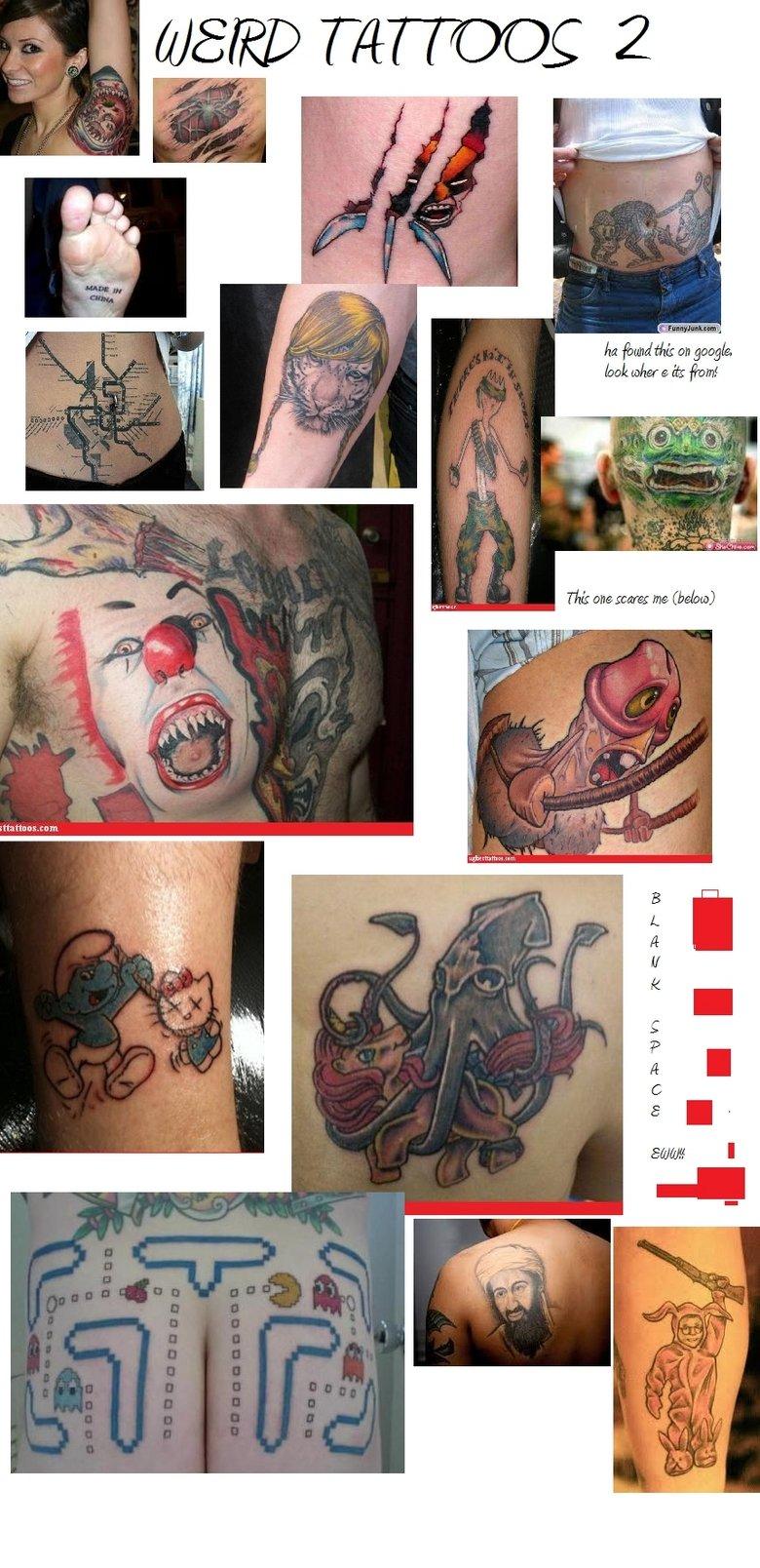 Weird Tattoos 2. heres number two . dll ,llooll! on lla% ea llooll [ weird tattoos