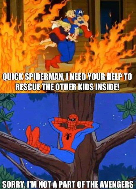 Well.. He got a point !. . WHEY. PM NET A MET III' I' ll! spidey avengers