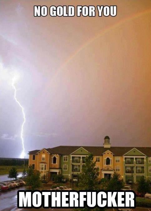 Well shit. . 1 it Rainbow lightning well Gold