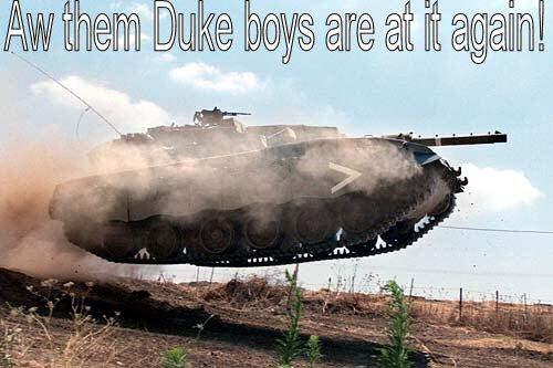 Whoooooooooo. whooooooooo.. my last name is Duke! swear to god i get made fun of so shut the hell up my cousin is NOT daisy .....bitch Tank Jump dukes of hazard