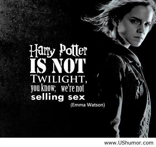 Why Harry Potter is Better. Emma Watson explains why Harry Potter is better then Twilight in a few words.. TWILIGHT, . selling sex Emma Vatsim) Why Harry Potter is Better Emma Watson explains why better then Twilight in a few words TWILIGHT selling sex Vatsim)
