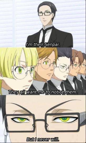 Why won't you notice?. Damn you, Senpai!. Why won't you notice? Damn Senpai!