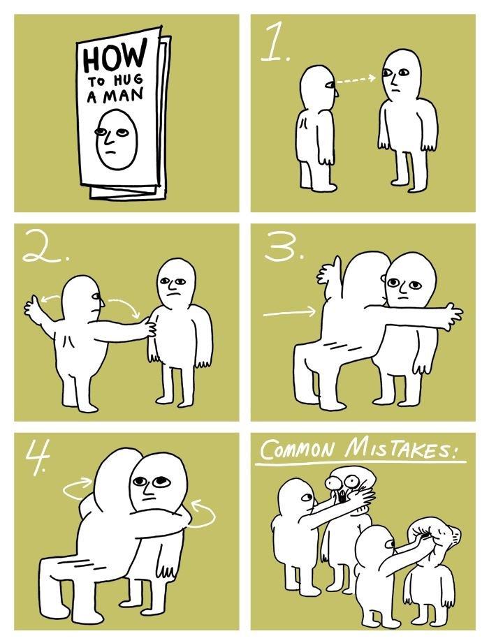 WikiHow. www.wikihow.com/Hug-Yourself.. #3 man hug Man hug