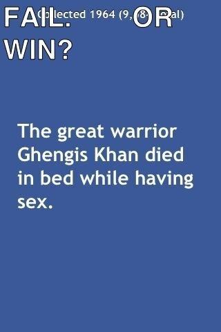 Win or Fail?. . ghengis khan sex