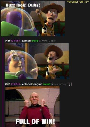 win,. . picard win buzz Woody