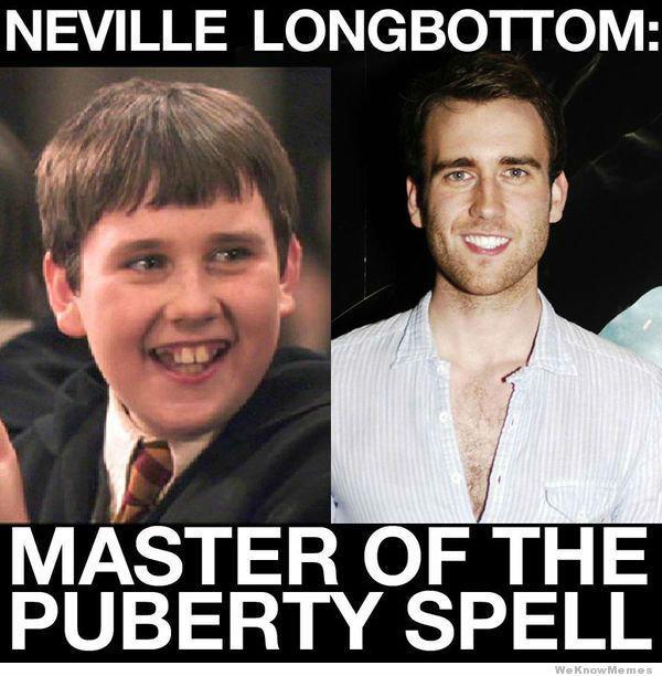 Wingardium Pubertyosa!. . NEVILLE : Wingardium Pubertyosa! NEVILLE :