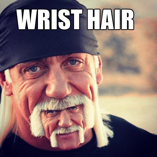 "wrist hair. hogans hulk. WRIST K' tr"". Wut? wrist Hair funny lol meme new"