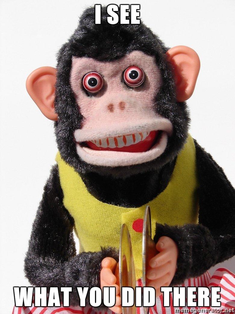Wut u did thur. I saw it... We gotta take out the monkey! Freaky monkey Toy story