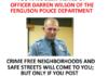 Good luck Officer Wilson!